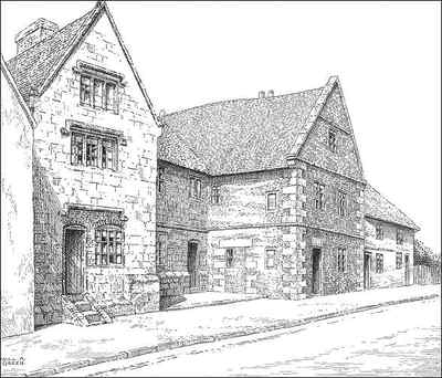 Old Village House Drawing a Fine Old House in The