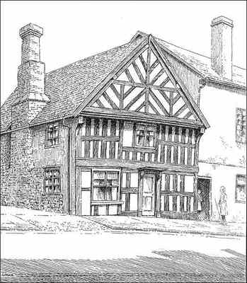 Bishops Castle, timbered house, Shropshire