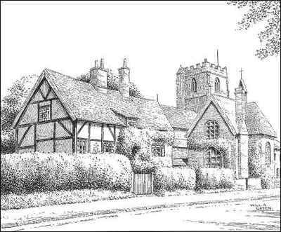 Brinklow, church, school, Warwickshire