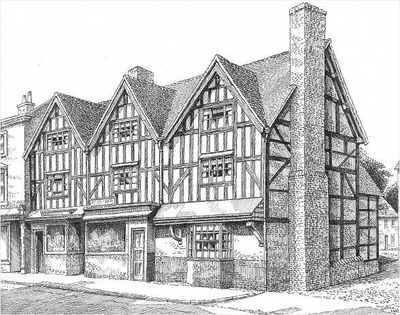 Bromsgrove, timbered houses, Worcestershire