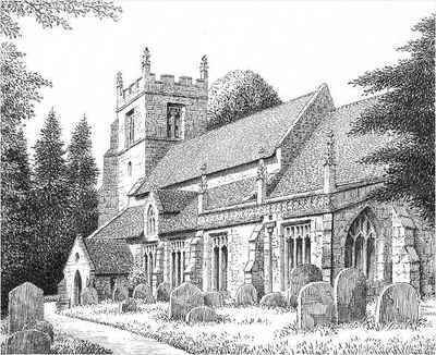 Claines, church, Worcestershire