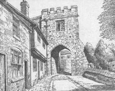 Coventry, town gate, Warwickshire