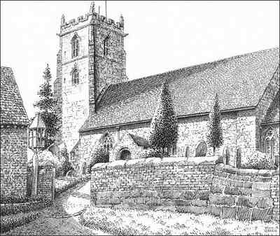 Curdworth church, Warwickshire