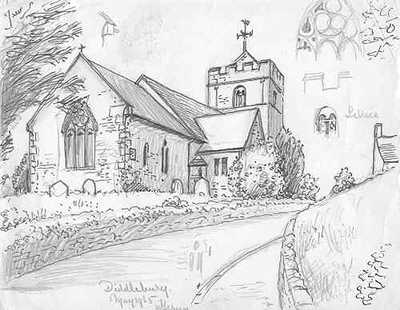 Diddlebury church, Shropshire