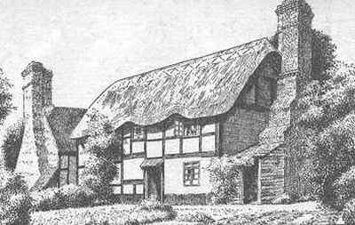 Great Aine, thatched cottages, Warwickshire