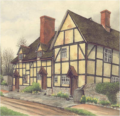 Haselor, cottages, Warwickshire