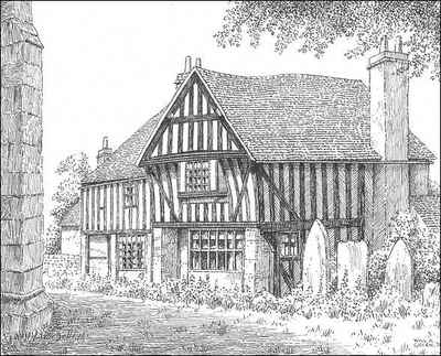 Highley, timbered house, Shropshire