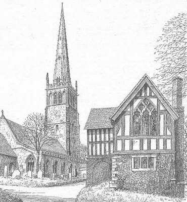 Kings Norton , church, school, Birmingham