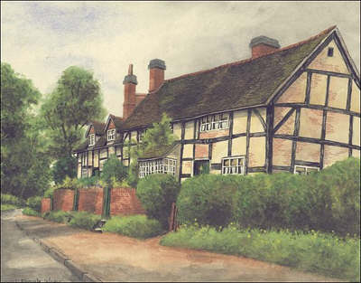Knowle, cottages, Warwickshire