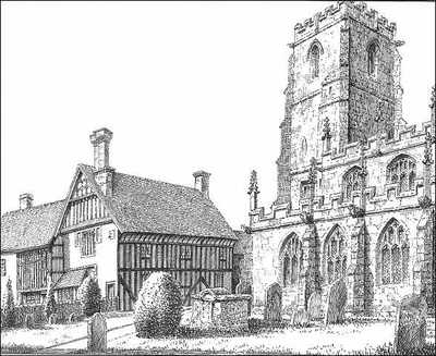 Knowle church, Guild House, Warwickshire