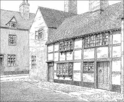 Lichfield, timbered house, Staffordshire