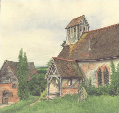 Morton Bagot, church, Warwickshire