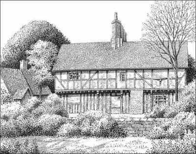 Oaken, Codsall, The Old House, Staffordshire