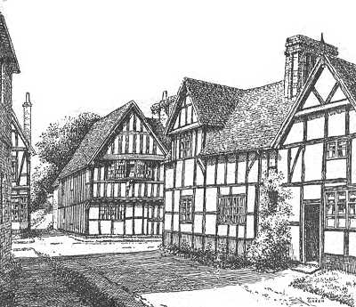 Ombersley, timbered house, Worcestershire
