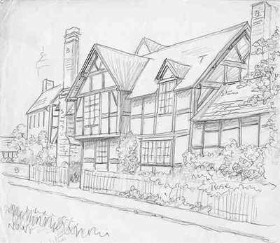 Orleton, timbered house, Herefordshire