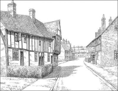 Polesworth, timbered houses, Warwickshire