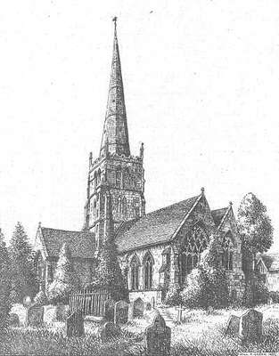 Solihull church, Warwickshire