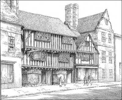 Stratford upon Avon, timbered house, Warwickshire