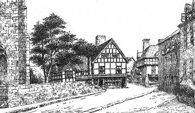Upton on Severn, timbered house, Worcestershire