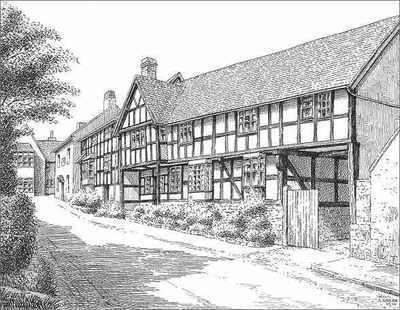 Wigmore, timbered house, Herefordshire